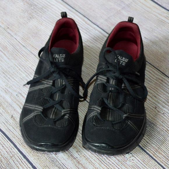 Kalso Lite Black Negative Heel Sneakers
